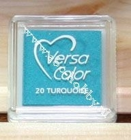 Turqoise, stempel inkt