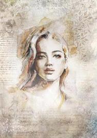 Portrait, silk Paper, zijdepapier