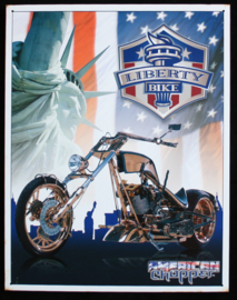 Wandbord metaal American Chopper motor