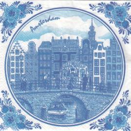 Amsterdamse Grachten Huizen, servet