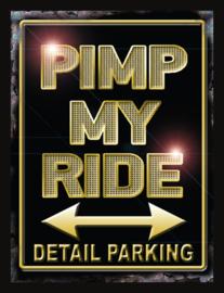 Wandbord metaal Pimp my ride
