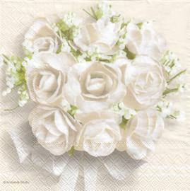 Wedding white roses, servet