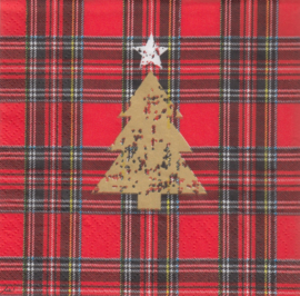 Tartan Tree red, cocktail servet