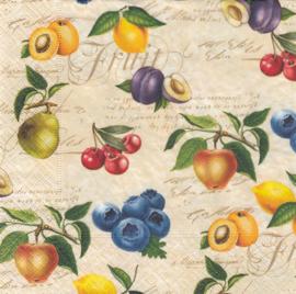 Vintage fruit, servet