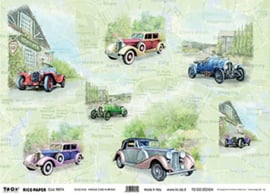 Vintage Cars In Brit, To-Do Rice paper