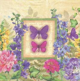 Vlinders & Bloemen, servet