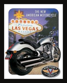 Wandbord metaal Las Vegas