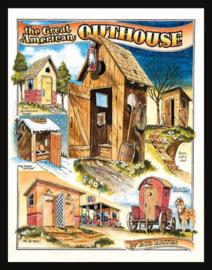 Wandbord metaal Bates Outhouses