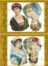 Vintage Lady's, poëzieplaatje Golden serie