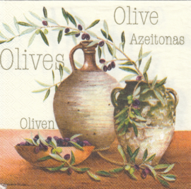 Olive, cocktail servet