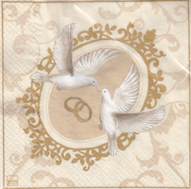 Wedding turtle doves, servet
