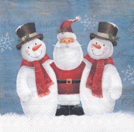 Sneeuwpop met Kerstman, servet