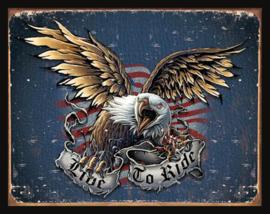 Wandbord metaal Adelaar Eagle
