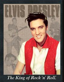 Wandbord metaal Elvis Presley