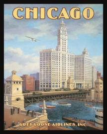 Wandbord metaal Chicago