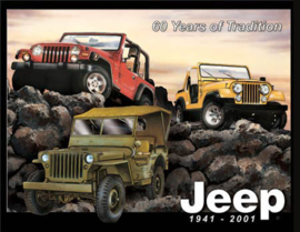 Wandbord metaal Jeep