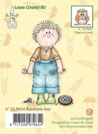 Bambini garden boy, Clear stamp