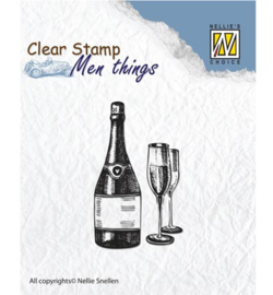 Whine, Men Things Clear Stamp