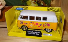 Flower Power busje, geel