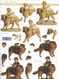 Kind & Hond, 3D knipvel Le Suh
