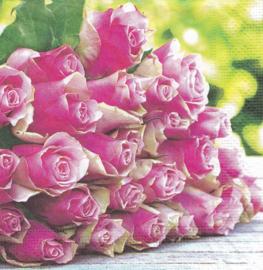 Gestapelde rozen, servet