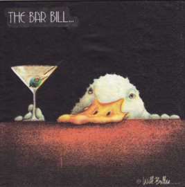 The Bar Bill.....,  cocktail servet