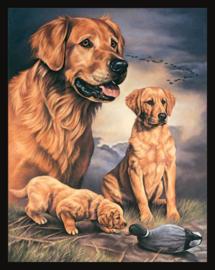 Wandbord metaal Dogs Family ontwerp Graham