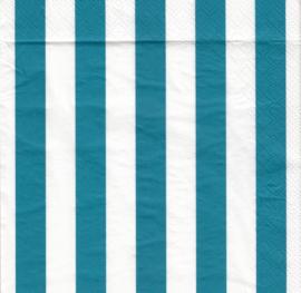 Turquoise stripe, servet