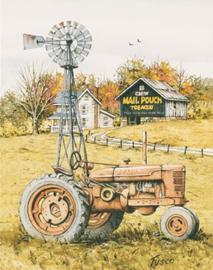 Wandbord metaal Fusco Farm Tractor