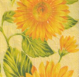 Zonnebloemen, servet