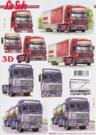 Vrachtwagens, 3D Knipvel Le Suh