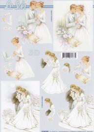 Huwelijk, knipvellen 3D
