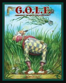 Wandbord metaal Humor golf