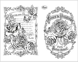 Fleurs de Printemps, Clear stamp