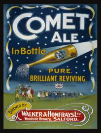 Wandbord metaal Comet Ale