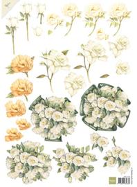 White Roses, Mattie´s  Mooiste A4 knipvel
