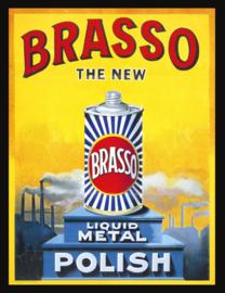 Wandbord metaal Brasso