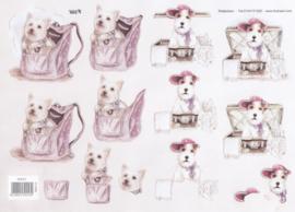 Glitter hondje, 3D knipvel