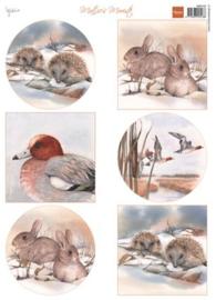 Konijnen & Egels, Mattie´s  Winter A4 knipvel