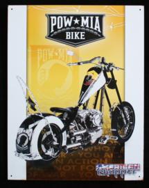 Wandbord metaal Motor Pow Mia