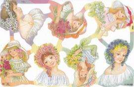 Bloemenmeisjes, poëzieplaatje Mamelok
