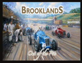 Wandbord metaal GP Engeland Brooklands