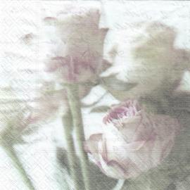 Pink rose bouquet, servet