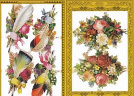 Bloemen & Veren, poëzieplaatje Golden serie