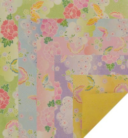 Origami Paper, Peony to side