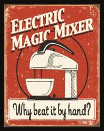 Wandbord metaal Electric magic Mixer keukenhulp