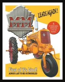 Wandbord metaal Mn. Moline tractor