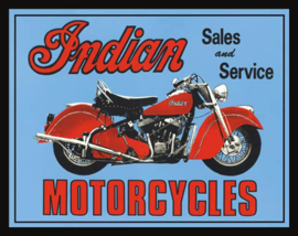Wandbord metaal Indian Motorcycles
