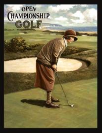 Wandbord metaal Open championship Golf