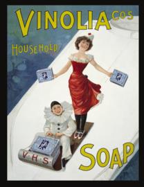 Wandbord metaal Vinola zeep